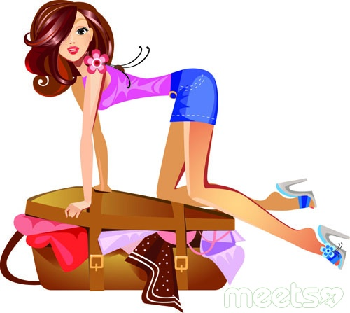 Young-traveler-girls-vector-3