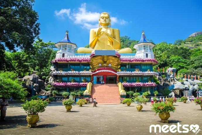 Dambulla cave temple. Sri Lanka
