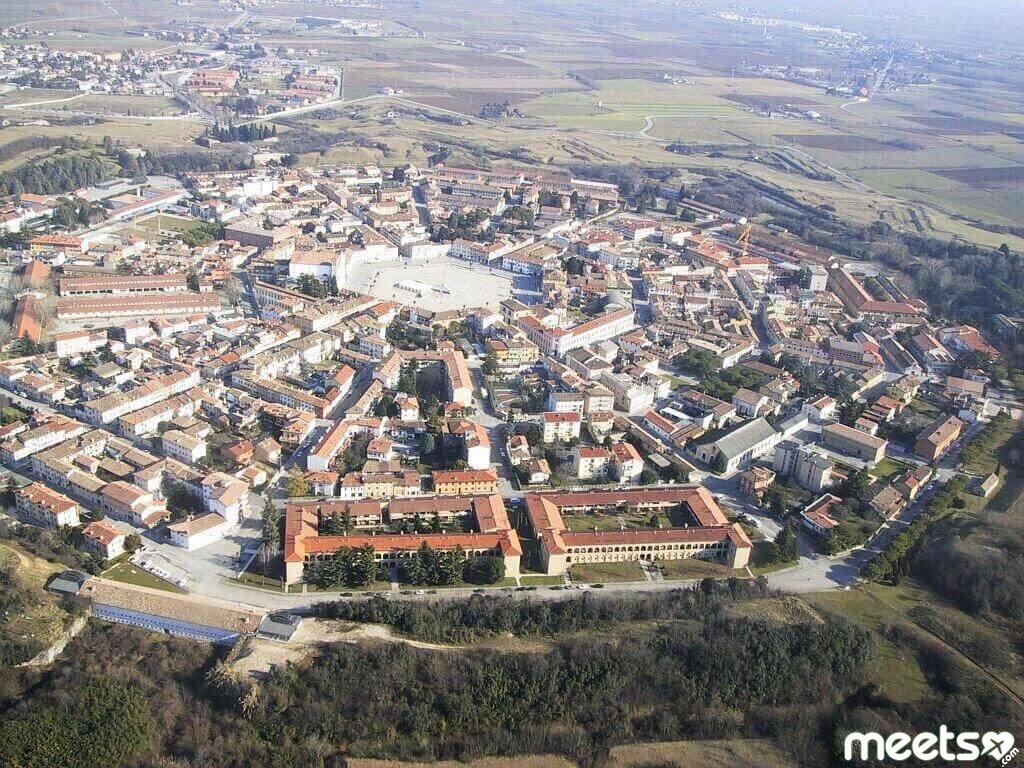 Palmanova - a symmetrical fortress city