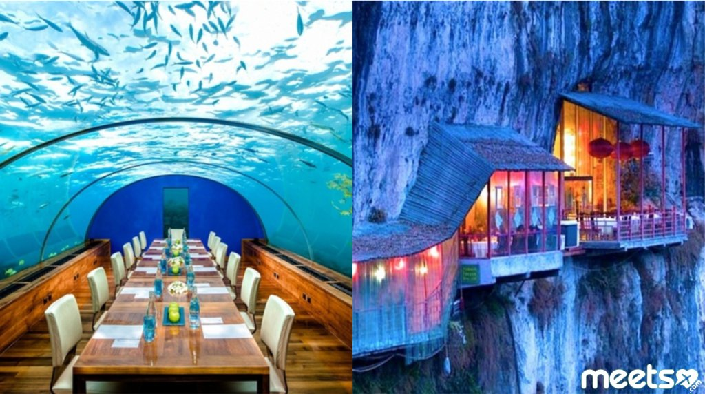Three the most unusual restaurants from around the world