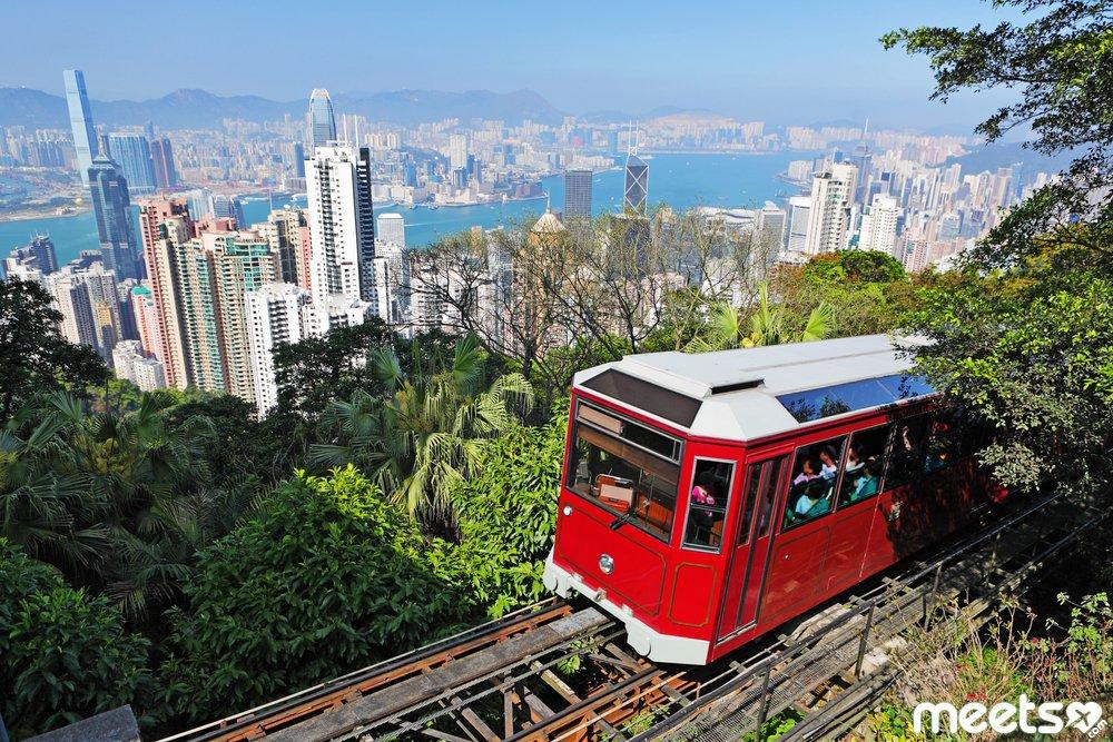 tram at the Peak, Hong Kong