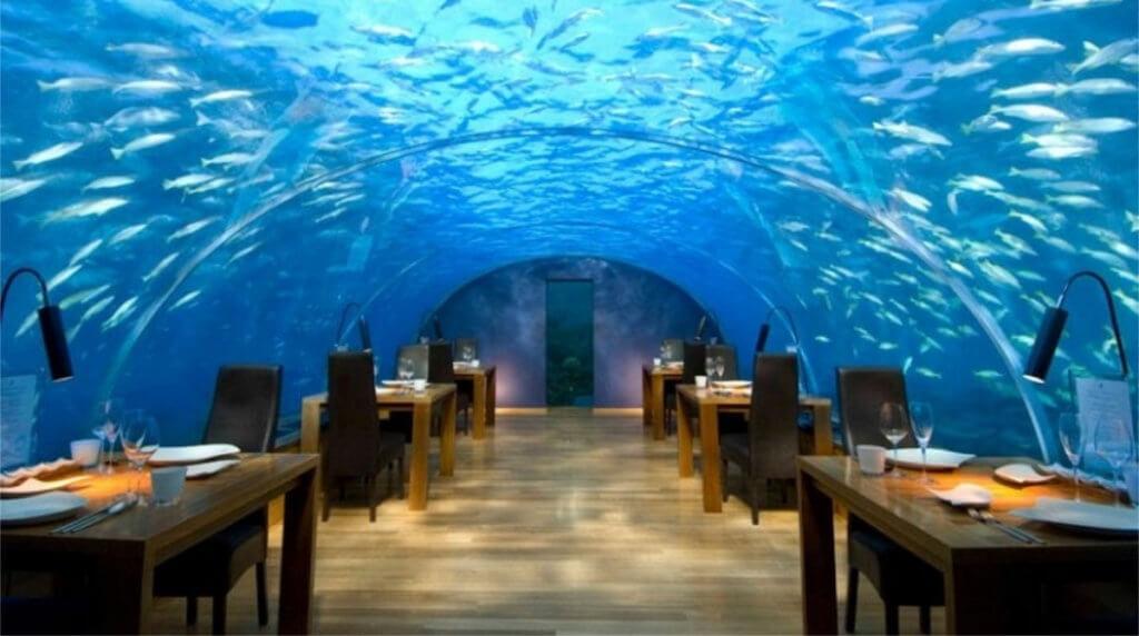 Итха — ресторан под водой на райских Мальдивах