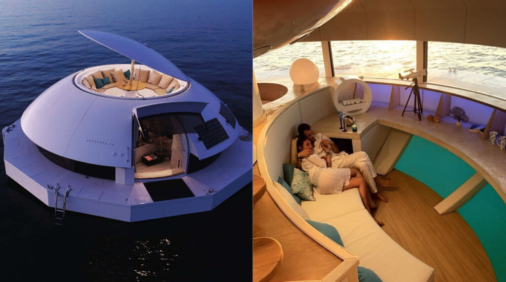 Anthenea — роскошный эко-отель с плавучими капсулами к вашим услугам