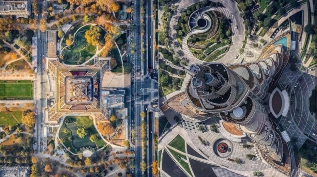 Под другим углом: 20 фото мировых достопримечательностей, снятых с непривычного ракурса