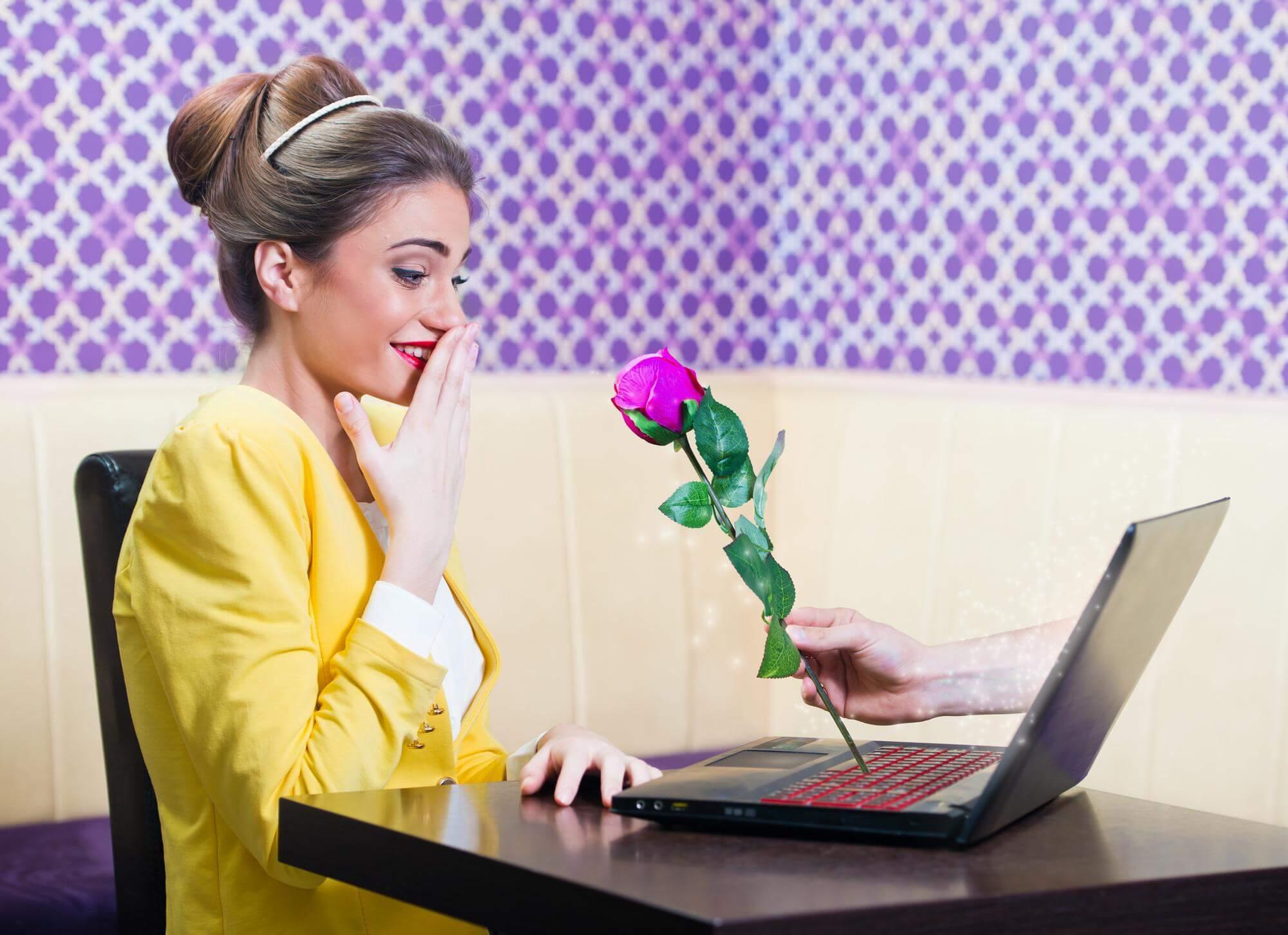 девушка знакомится онлайн